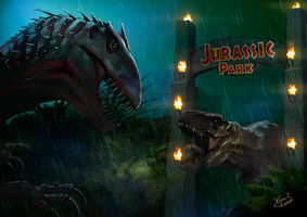 Jurassic World vs Jurassic Park ver. by Zhorez1321