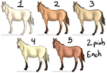 CLOSED 2 Point Horse Adopts by lionsilverwolf