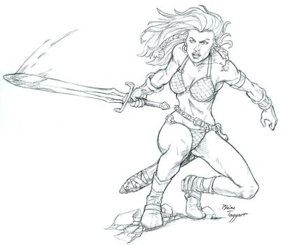 Red Sonja by staino
