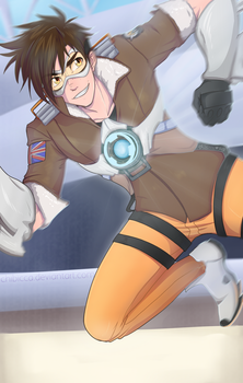 Cavalry's Here! - (Tracer Genderbend) by chibicca