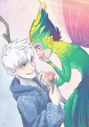 Frosted Rose - Jack and Toothiana by NightLiight