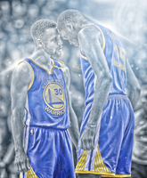 Stephen Curry and Kevin Durant by HyDrAndre