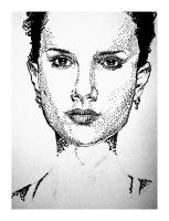 Natalie Portman WIP Stippled by karthik82