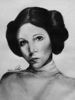 Carrie Fisher by Louise-Veale