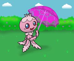 Frillish with parasol