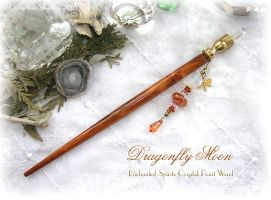 DragonflyMoon Crystal PT Wand by ChaeyAhne