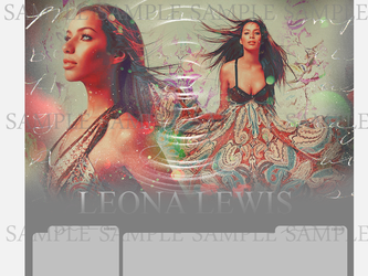 Leona Lewis Layout 2 by tearfulcreations