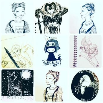 INKTOBER COMPILATION 2017 2/5 by peore