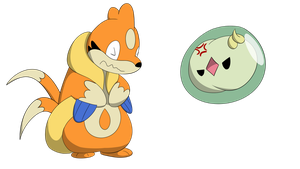 Floatzel and Solosis