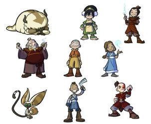 Avatar redesigns for fun by rufftoon