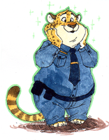 Benjamin Clawhauser by AidenMonster