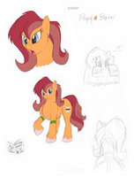 Pony OC: Peach Barrel by tymime