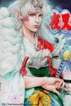 Lord Sesshomaru semirealism by marvioxious89