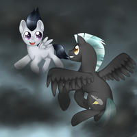 Flight Between Brothers by Kitsunewolf95
