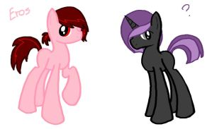 Aphrodite and Midnight Wink Genderbends by sketchypony123