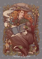 Nouveau folk witch by Medusa-Dollmaker