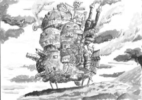 Howl's Moving Castle by BasInfante