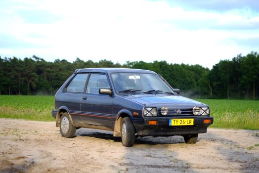 Subaru Justy, fresh out of the sand by Shadowslayer159