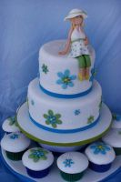 Baby shower Cake by Verusca