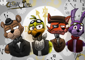 FNAF AU: Lethal Time by Laasuzi