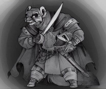Redwall Villains: Swartt Sixclaw the Warlord. by FortunataFox