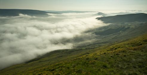 Mist over Mam Tor by CharmingPhotography