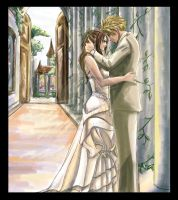 Cloud and Aerith June Wedding by AnAngelkiss