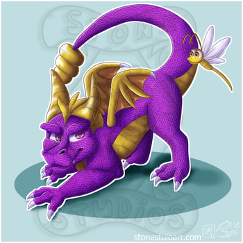 Spyro Painting Fin by ZinStone