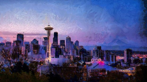 Seattle Cityscape by montag451