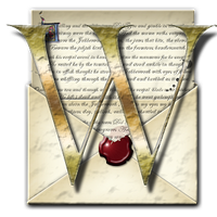 Steampunk W Open Envelope Icon by yereverluvinuncleber