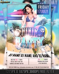 PSD PREMIUM FREE SUMMER FLYER by ultimateboss