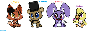 Five Nights at Freddy's Characters (babies) by TheAnthroPony
