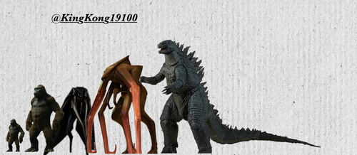 All Monsterverse Monsters Size Comparisons by kingkong19100