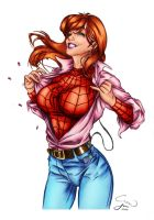 Mary Jane, spidey wannabe by penichet