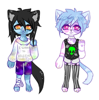 Collab Anthro Adopts Auction [2/2 OPEN] by OperaHouseGhost