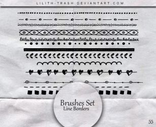Line Borders Brushes  #55 by LilithDemoness