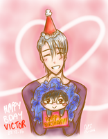 Merry Christmas and Happy Birthday Victor!!! by CyberOtaku43v3R