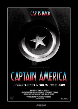 Captain America Poster A by imaphotoguy