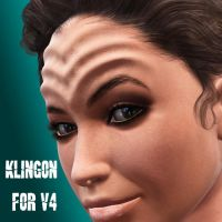 Klingon Headmorph for V4 by Artelanas