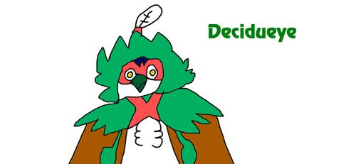Decidueye from Pokemon Sun and Moon by MikeJEddyNSGamer89