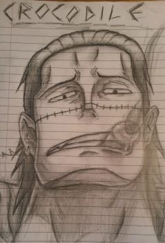 One Piece: Crocodile Sketch by ShadowWhisper446
