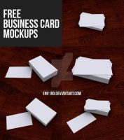 Free Business Card Mockups by env1ro