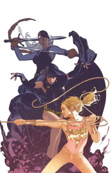 Teen Titans Variant Cover by AdamHughes