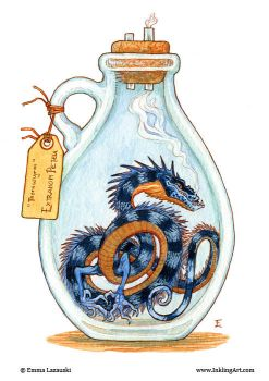 Bottled: Blue Thornwyrm by emmalazauski