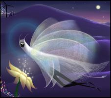 Journey Flower Moth by Feannora