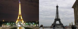 Eiffel Tower at Night and Day by Gelios