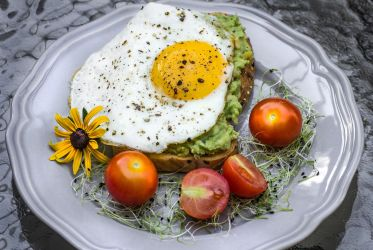 Avocado Toast with a Sunny Side Up Egg by Kitteh-Pawz