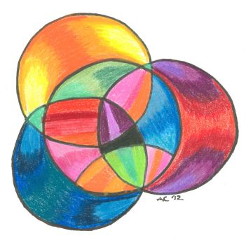 Psychedelic Circle Overlay I by LiquidCandyRainbow