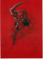.:HELLBOY:. on Red Card by teflonmonkey