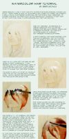 watercolor hair tutorial by beetlejazz